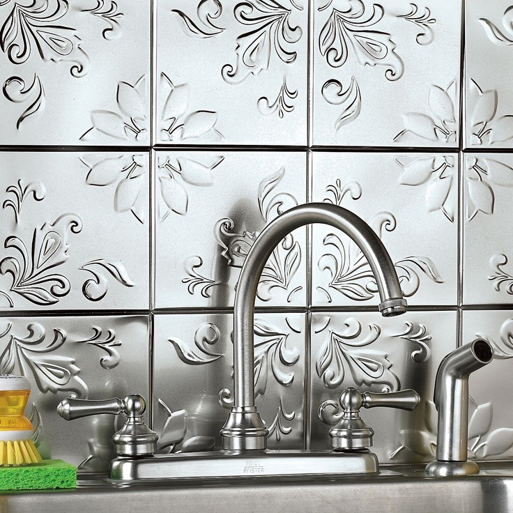 Pressed tin splashback? Tap that has flick handles and single spout for sure