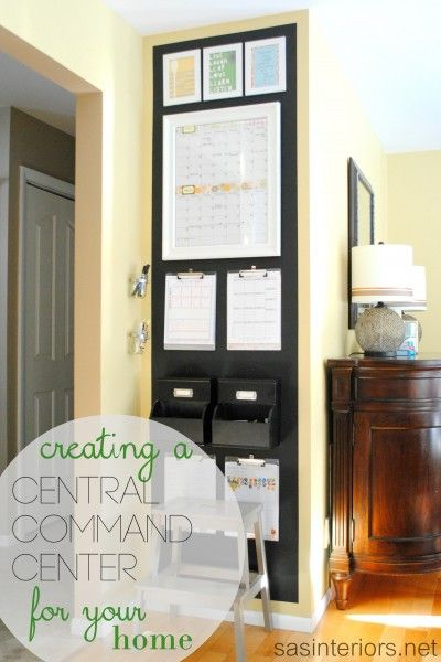 Chalkboard Family Central Command Center for the heart of the home including a monthly calendar, kids charts, inspirational quotes, and more...