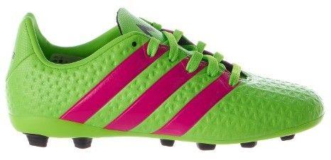 adidas Ace 16.4 FxG J Soccer Shoe (Toddler/Little Kid/Big Kid),Green/Shock Pink/Black,3 M US Little Kid