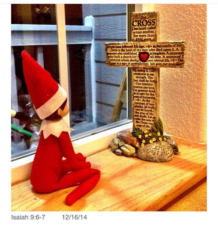 Our Elf on the shelf named Tia!