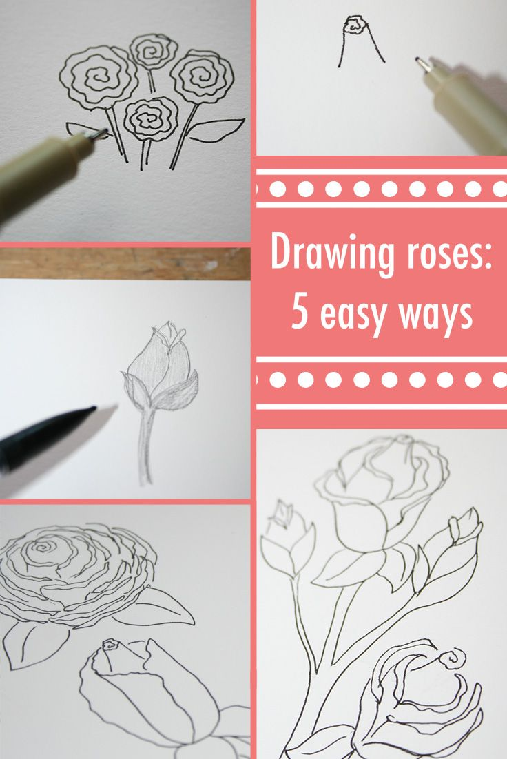 Best 25+ Easy To Draw Rose Ideas On Pinterest  Easy Drawing Tutorial, How  To Draw Roses And Easy Rose Drawing