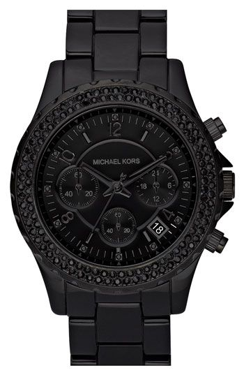black on black Michael Kors watch. For more fashion, beauty, giveaways and exclusive scoop visit www.breakfastwithaudrey.com.au