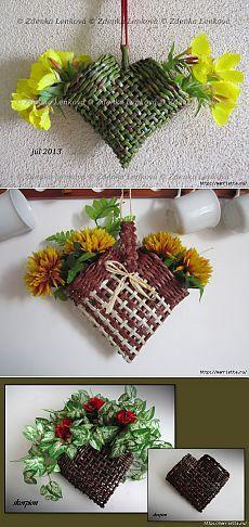 Basket Hearts Wall Decor