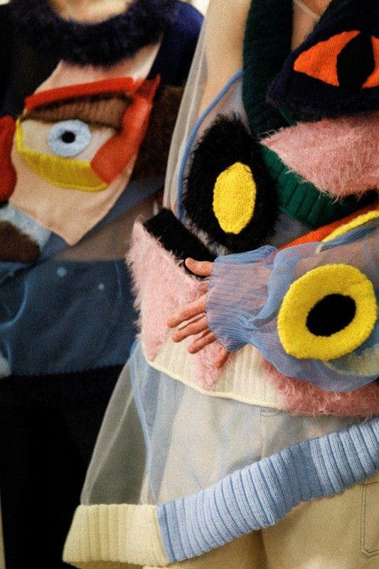 Embroidery Knit Jumper by Belgian fashion designer Walter Van Beirendonck (the Antwerp Six) Autumn/Winter 2015