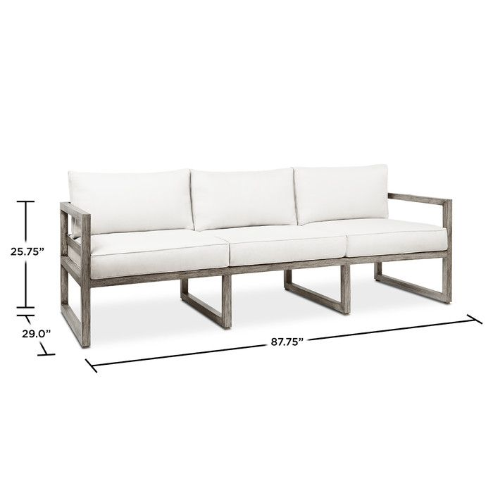 real flameu0027s monaco outdoor 3seat sofa adds comfort and style to any outdoor living