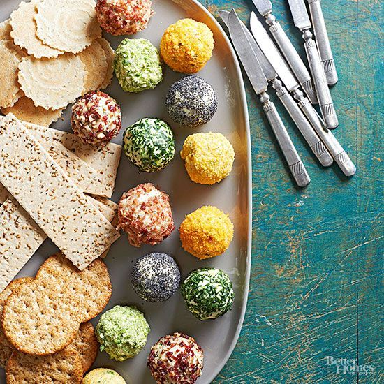 """Cute"" isn't the first word that usually comes to mind when you think of a cheese ball, but when you roll one into individually sized portions, the little gems become darling indeed."
