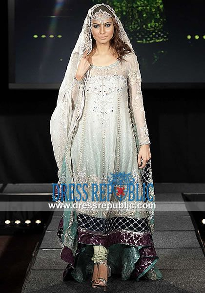 Cloud Angelo - DR11174, Pakistani Bridal Dresses, Sharara, Lehenga and Wedding Dresses Elmont NY Maria B Wedding, Maria B Wedding Dress, Wedding Anarkali Suits, Maria B Collection, Anarkalee, Pakistani, designer, Cloud, Light Green, Chiffon, Pakistani, Designer, Shalwar Kameez, USA Bridal Dress Design Worn by Maria B at her official wedding in Pakistan. Maria B Bridal Dress, Maria B Wedding Dress, Maria B Wedding Dress, Maria B Wedding Anarkali Suit, Maria B Bride Dress by…