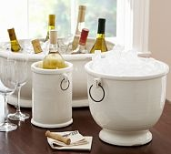I love this wine chiller bucket in the background.  Perfect for any party.