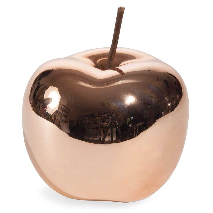 Statuette pomme en céramique H 12 cm UMEA COPPER