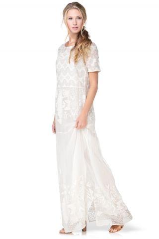 Robe dentelle blanche bash