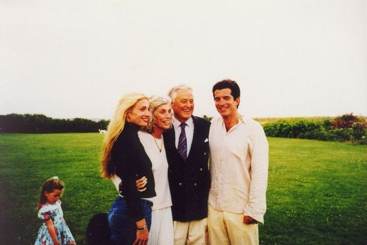 Carolyn Bessette Kennedy, Eunice & Sargent Shriver, and JFK Jr.    taken WAY TOO SOON