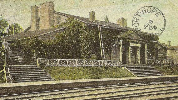 #GUELPH Ontario First House in Guelph Now #C.P.R. Station The Priory Antique #1908 Postcard Port Hope Ontario Cancel TheOldBarnDoor at Etsy.com