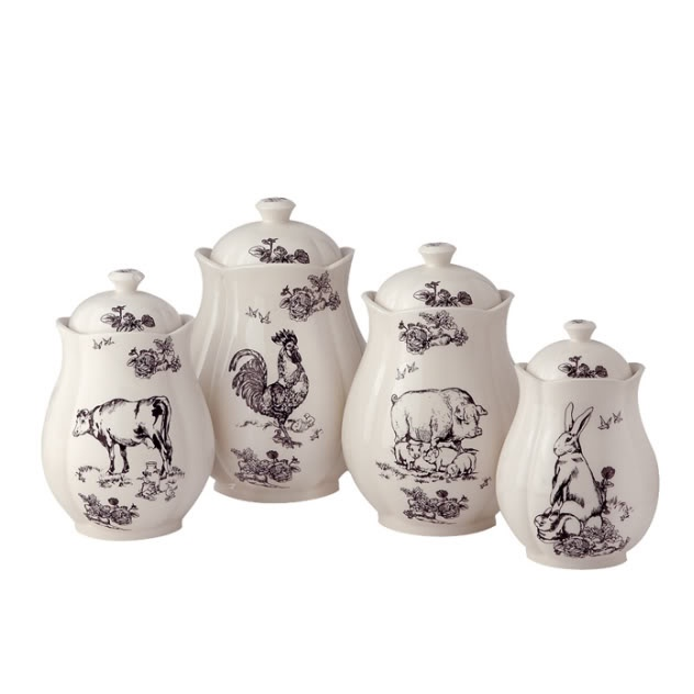 French Toile Canister Set