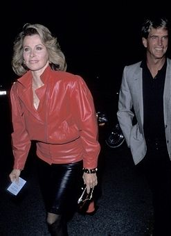Stefanie Powers and date during Elton John's Manager's Birthday Party - September 9, 1989 at Beverly Hills in Beverly Hills, California, United States.