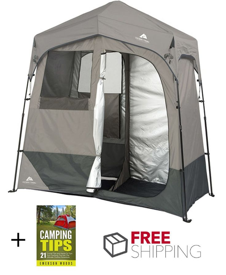 Ozark Trail Instant Shower Tent 2 Room Waterproof Camping Equipment Polyester | Sporting Goods, Outdoor Sports, Camping & Hiking | eBay!