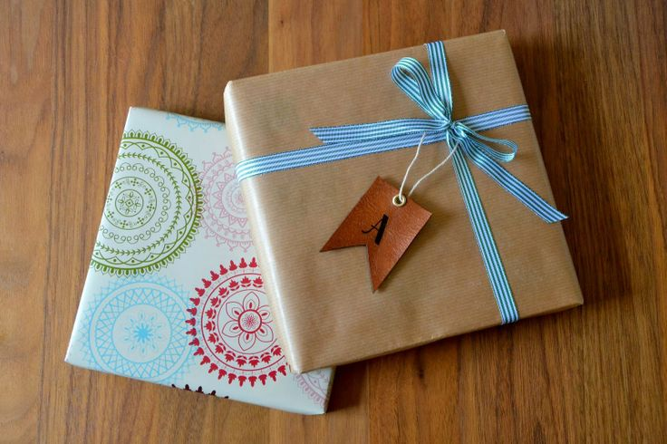 DIY Leather gift tags.