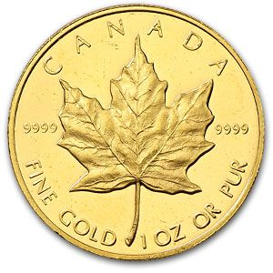 Canadian Maple Leaf gold bullion coin - these make excellent birthday, Christmas, and just-because gifts!!! :)