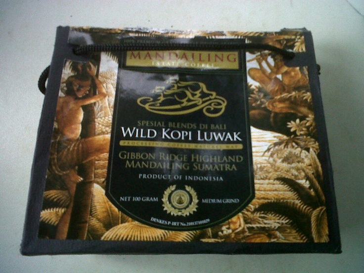 Kopi Luwak coffee...or Civet coffee. At $350 a pound, the most expensive in the world. You may not want to know why!