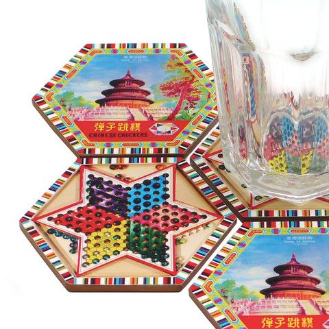 'Chinese Checkers' coaster set  Goods of Desire  www.god.com.hk #goodsofdesire   Chinese Asian Coasters