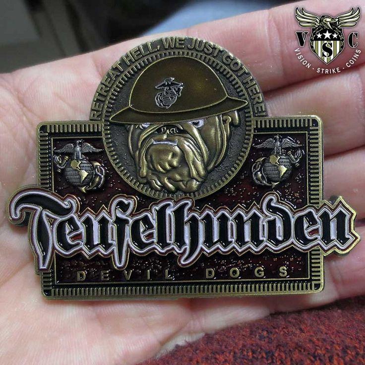 Teufelhunden Devil Dogs USMC Coin $17.75