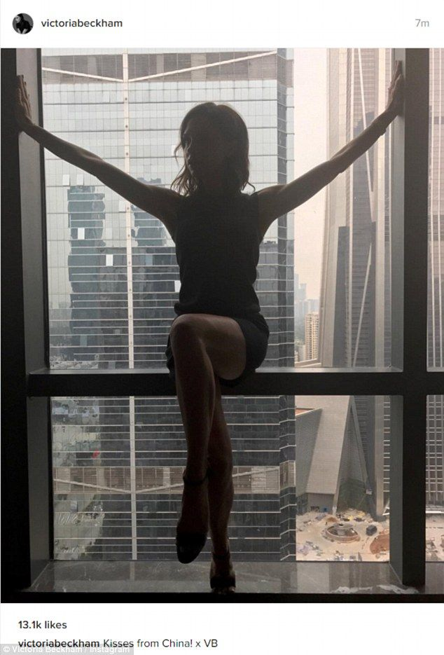 Wow thing: The stunner shared this very leggy picture of herself on Instagram as she sat on the window sill