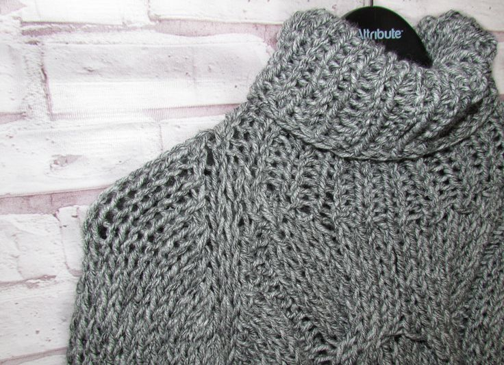 Women's grey sweater|Hand knitted clothes|Chunky knit jumper|Oversize clothes|Woolen sweater|Winter clothes|Knitwear for women|Women sweater