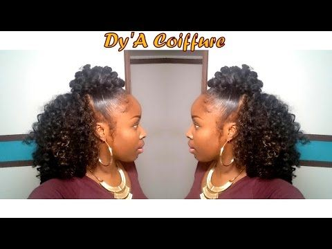 DIY ★ Easiest crochet braids ever (no cornrow) for a natural look - By Dy'A - YouTube