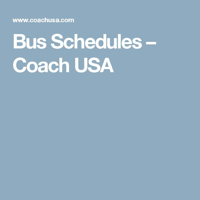 Bus Schedules – Coach USA Rt M20 Rt 14E