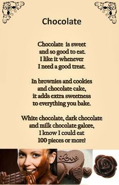 funny poems about chocolate - Google Search
