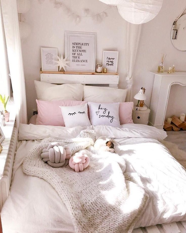 exciting cute girly bedroom ideas | 43 cute and girly bedroom decorating tips for girl 6 in ...