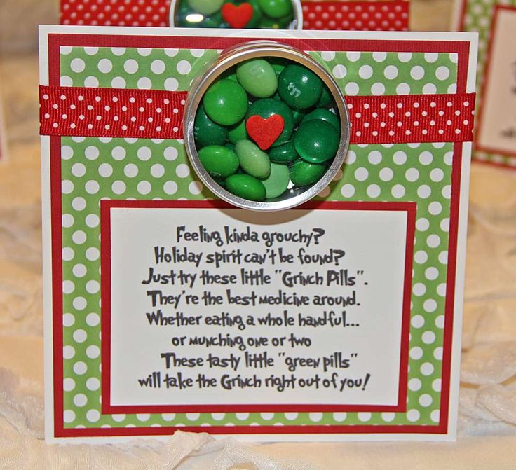 Grinch Christmas party candy! See more party planning ideas at CatchMyParty.com!