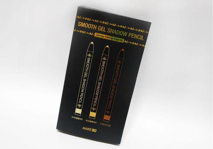 Smooth gel pencil shadow three kinds of kits Korea Cosmetics Eye Shadow  #MAKE20