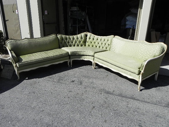 Lovely French Provencial Sectional. Wow I have never seen an antique sectional : french provincial sectional sofa - Sectionals, Sofas & Couches