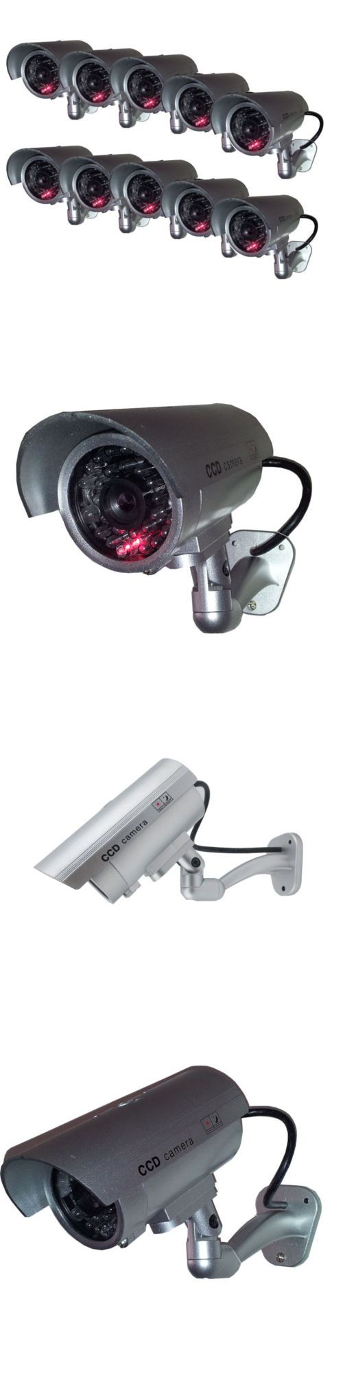 Dummy Cameras: 10 Outdoor Dummy Security Camera Fake Flashing Infrared Bullet Cctv Surveillance -> BUY IT NOW ONLY: $44.95 on eBay!