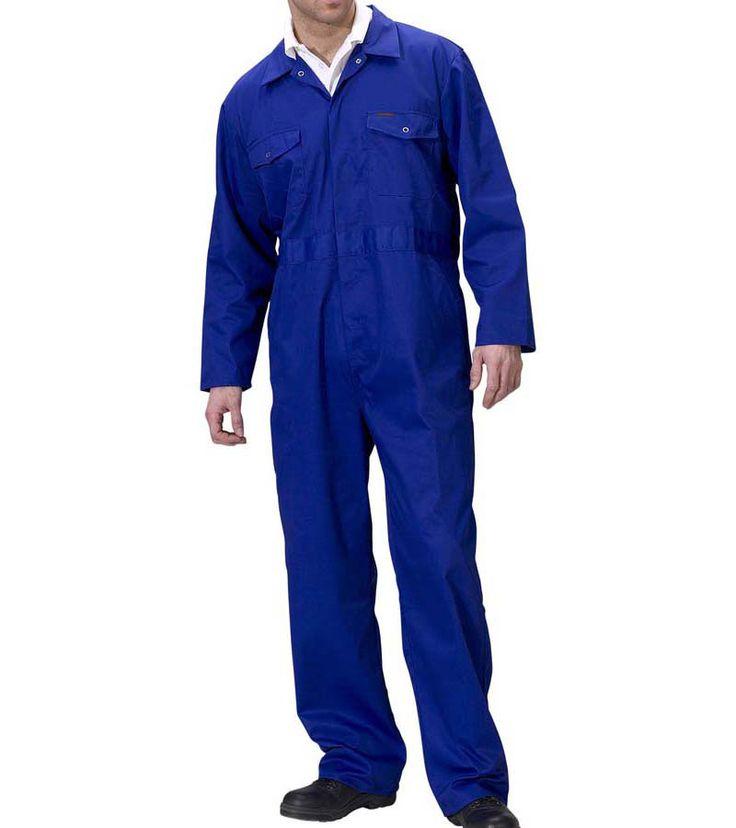 Royal Blue Poly Cotton Standard Mechanics Overalls