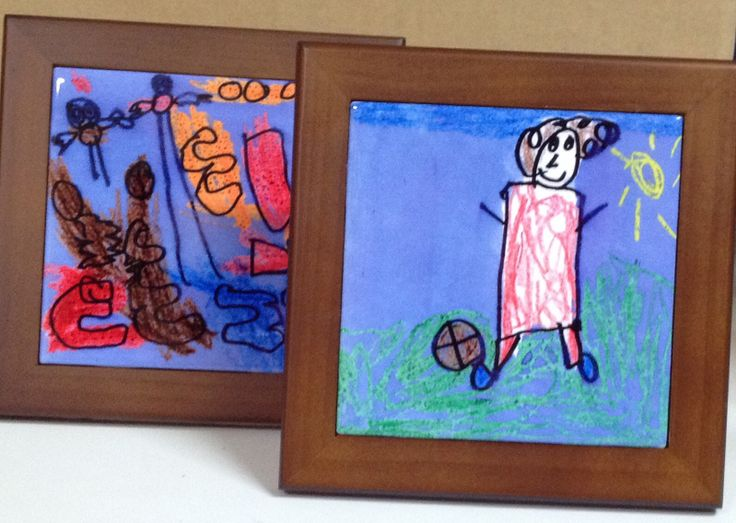 Children create the most amazing art. Display on a framed ceramic tile for a beautiful gift!