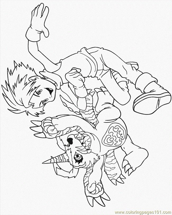 59 Best Digimon Coloring Pages Images On Pinterest