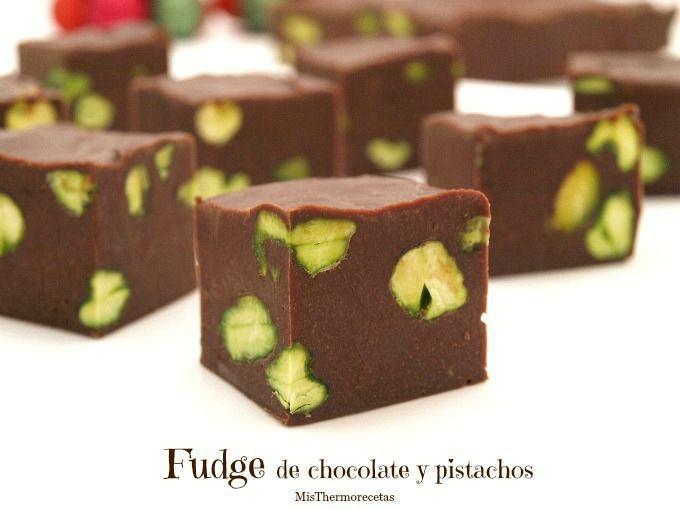 Fudge de chocolate y pistachos - MisThermorecetas