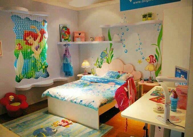 Little mermaid themed bedroom little mermaid pinterest for Little kids room