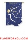 Applique Rejoice Angel Garden Flag