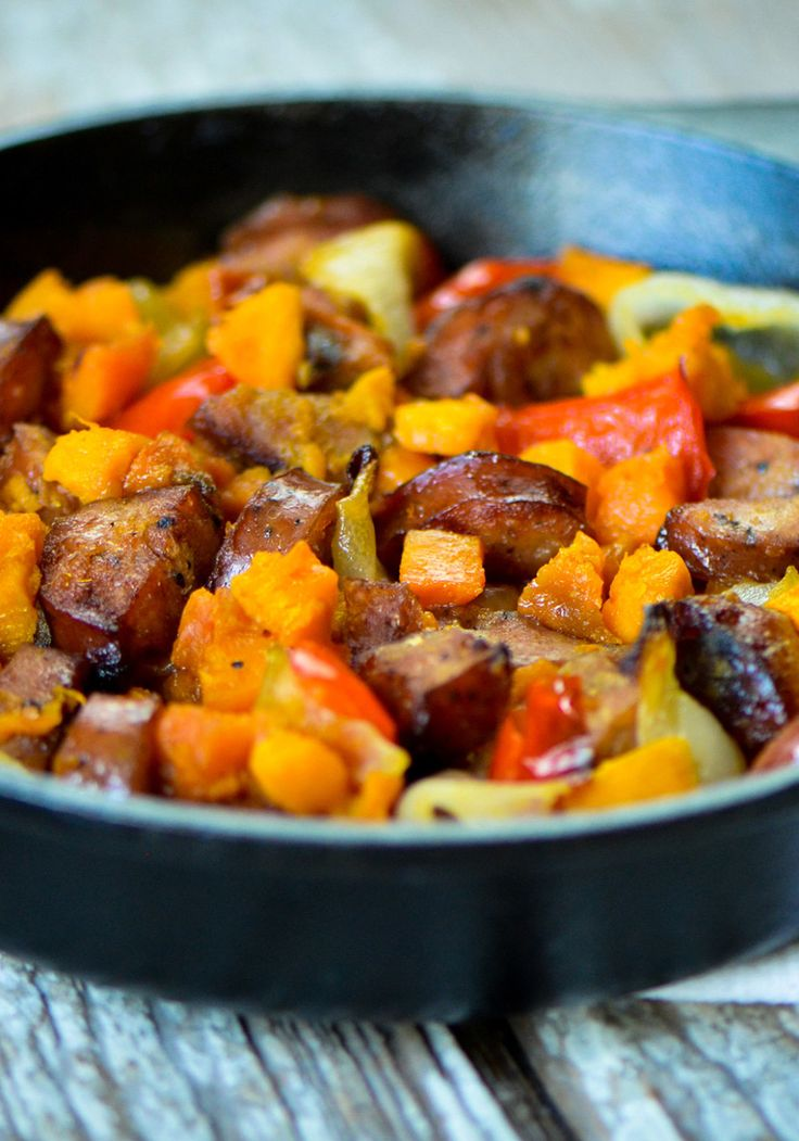 Sweet Potato And Chicken Sausage Hash Recipe In 2019