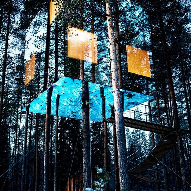 The Mirrorcube Tree House Hotel, Sweden