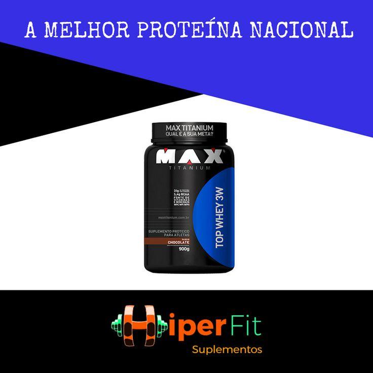 Seu treino ainda mais POWER com TOP WHEY 3W da Max Titanium. Eleita a Melhor Proteína Nacional pela Revista Suplementação. 💪🏻🏆🥇 Na HiperFit Suplementos você leva esse poderoso suplemento em até 3x sem juros! #hiperfitsuplementos #topwhey3w #wheyprotein #ganhodemassamagra