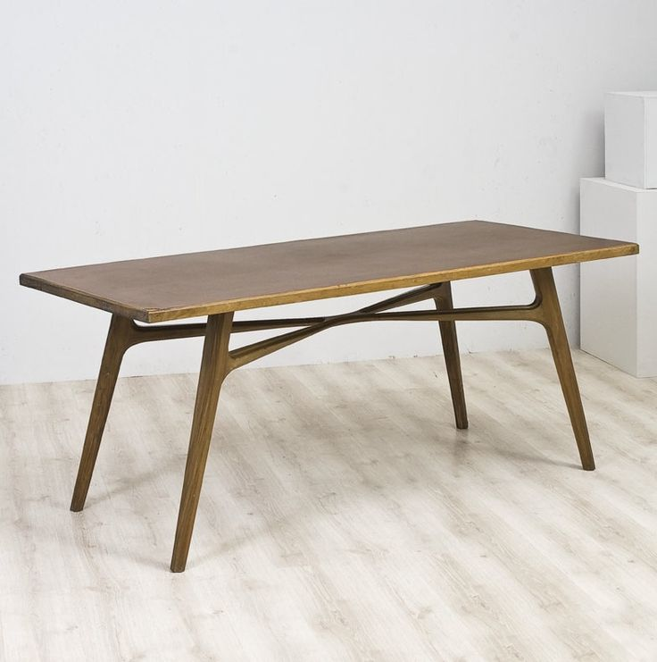 Anonymous Walnut Dining Table By Apelli And Varesio 1950s