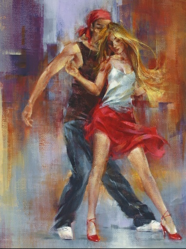Salsa bachata painting alvare street dance around the world
