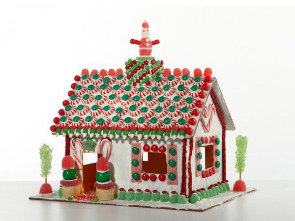 If you'd like to skip the cookie part of the gingerbread house altogether, this cool cottage is made of reusable food-safe plastic; just add the allergy-friendly icing and candy decorations of your choice-- then wash and reuse.