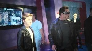 rnold Schwarzenegger took part in an amazingly funny pranks dedicated to his new movie Terminator Genisys walking around the streets of Hollywood as a legendary Terminator.