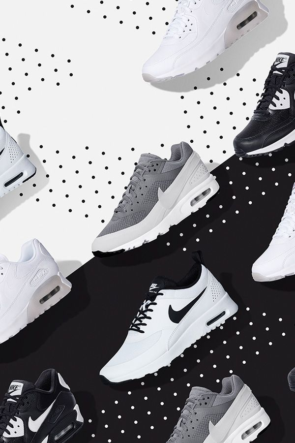 Black and white, half and half, or all-over monochrome, the Nike Air Max Collection serves up a wide range of colors and design — all in iconic Air Max style.
