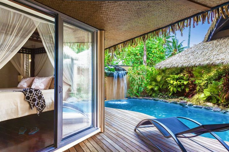 Romantic Tropical Vacations Cook Islands, Luxury Resorts Rarotonga, South Pacific : Ultimate Villa of Romance #luxurytravel