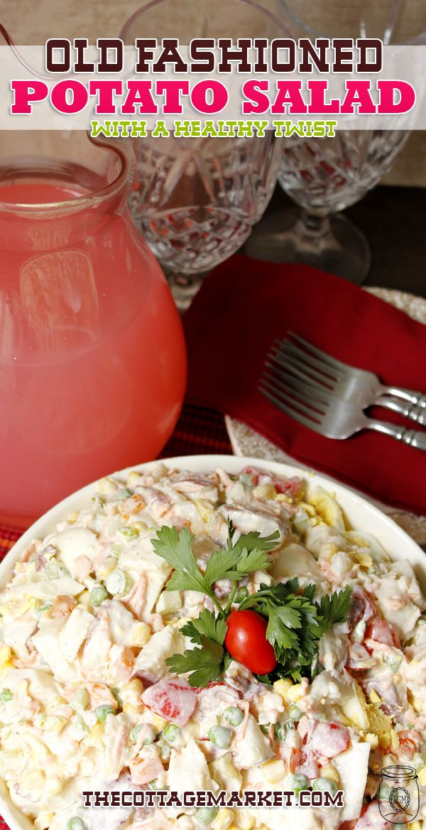 Old Fashion Potato Salad with a Healthy Twist - The Cottage Market